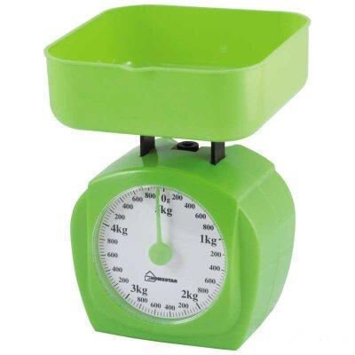Весы кухонные механические с чашей до 5 кг HOMESTAR HS-3005М зеленые