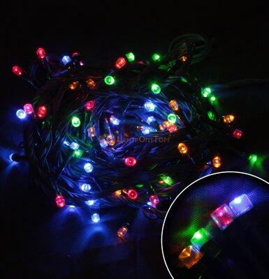 Светодиодная гирлянда многоцветная мигающая LED100-5-MC 8 режимов 100 LED