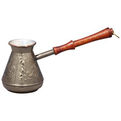 Турка кофеварка медная 850 л Ромашка Mallony с орнаментом