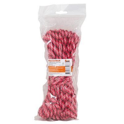Шнур плетеный с сердечником высокопрочный цветной д. 6 мм (20 метров)
