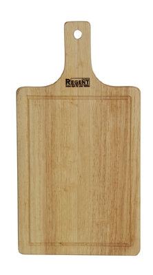 Доска разделочная деревянная с ручкой 28х15 см Regent 93-BO-1-02.1 из гевеи