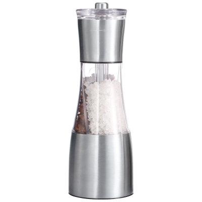 Мельничка для перца и соли ручная Mallony PICCANTE 6.6x19.5 см, акрил, нержавеющая сталь