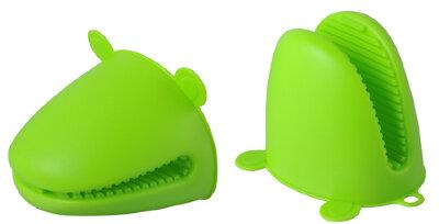 Силиконовые прихватки 2 шт для горячего «Лягушата» Regent 93-SI-CU-06.3 10х12 см, Зеленые