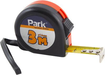 PARK TM363016 Рулетка с фиксатором, пластиковый корпус, 3мx16мм