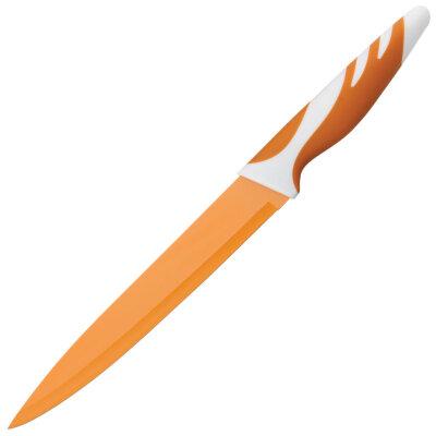 Нож разделочный 20 см Mallony MAL-02С окрашенный Оранжевый