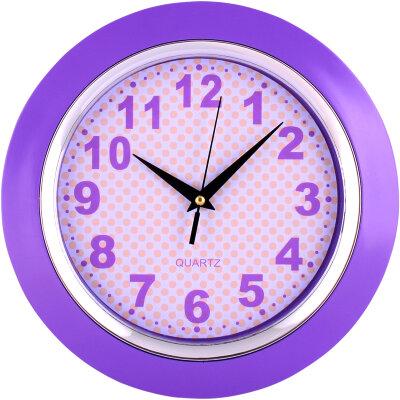 Часы круглые настенные 25 см MAXTRONIC MAX-9827А2 корпус - пластик, на батарейке