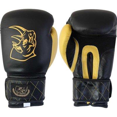 Перчатки боксерские BG-2577B-14, 14 унций, кожа, цвет: черный