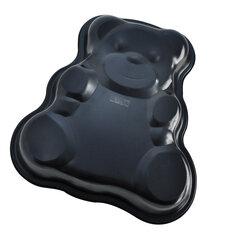 Металлическая форма для выпечки кексов «Медвежонок» Regent 93-CS-EA-4-10 сталь, антипригарное покрытие, 34x32x4.8 см