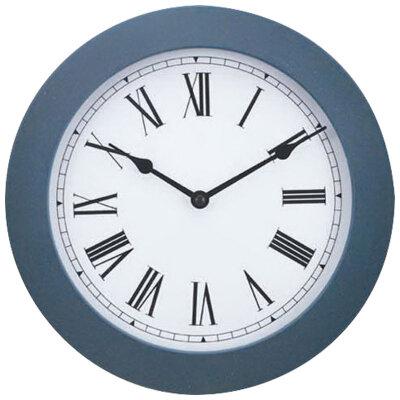 Часы настенные без секундной стрелки 25 см ENERGY ЕС-114 B круглые, Синие