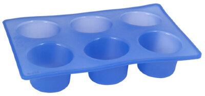 Прямоугольная форма для выпечки 6 кексов из силикона Regent 93-SI-FO-06 28.5х19х5 см, Синяя