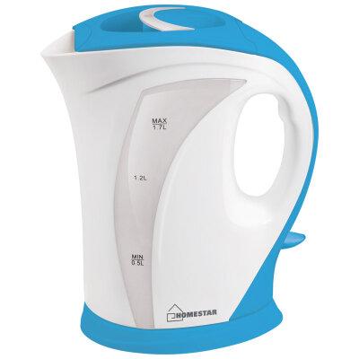 Чайник электрический пластиковый 1.7 л HomeStar HS-1006-WBL 2200 Вт бело-голубой