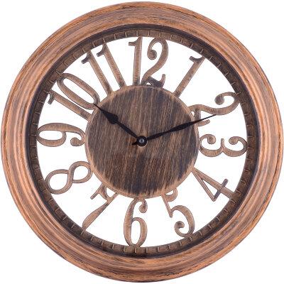 Настенные часы с большими цифрами 34 см MAXTRONIC MAX-9807С3 без секундной стрелки