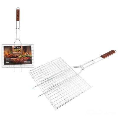 Решетка для барбекю на мангале ECOS RD-171D 35x25x2 см хроимированная