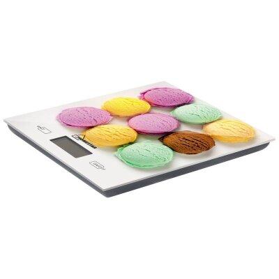 Весы кухонные электронные до 5 кг HOMESTAR HS-3006 рисунок мороженое