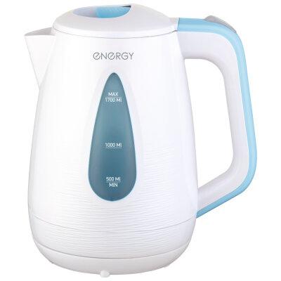 ENERGY E-214 Чайник электрический в пластиковом корпусе 1.7 л с фильтром и подсветкой , Белый