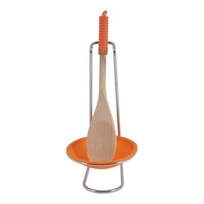 Подставка для ложки с деревянной ложкой в комплекте W3751A 22.5 см Рыжий Кот