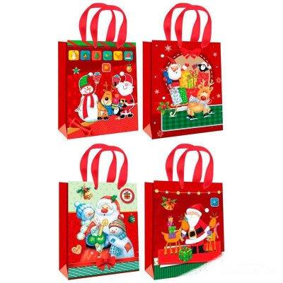 """Пакет с новогодней символикой для подарка """"Winter dreams"""" L 30x39.5x12 см"""
