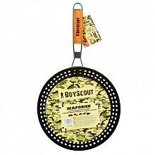 Сковорода для мангала BOYSCOUT 61261 с антипригарным покрытием, складной ручкой, 53х30х3 см