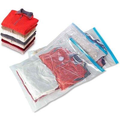 Пакет вакуумный Рыжий КОТ VB7 60x80 см с клапаном для хранения вещей