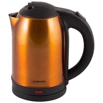 Homestar HS-1009 Чайник электрический стальной 1.8 л золотой