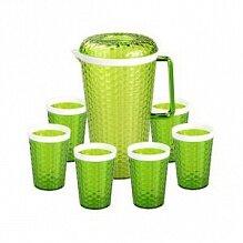 Кувшин 2 л Мозаика в наборе с 6 стаканами М5583 зеленый