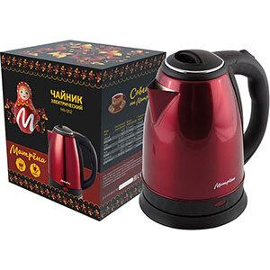 Чайник стальной МАТРЁНА MA-002 Красный 1.8 л 1500 Вт