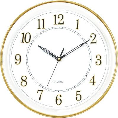 Часы круглые настенные 32 см MAXTRONIC MAX-9728Z1 с секундной стрелкой, корпус - пластик