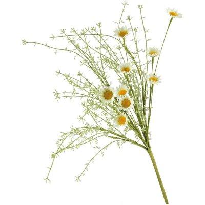 Искусственные полевые цветы для интерьера Ромашки белые 52 см