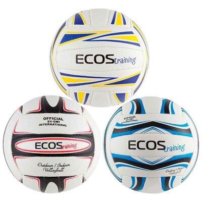 Мяч волейбольный ECOS Training №5 латексная камера машинная строчка 270 г