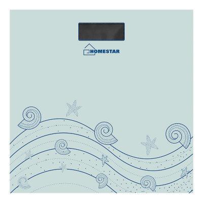 Весы бытовые напольные электронные до 180 кг HOMESTAR HS-6001B квадратная стеклянная поверхность