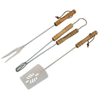 Набор для гриля и барбекю ND-1095 из нержавеющей стали щипцы 39 см, вилка 39 см, лопатка 39 см