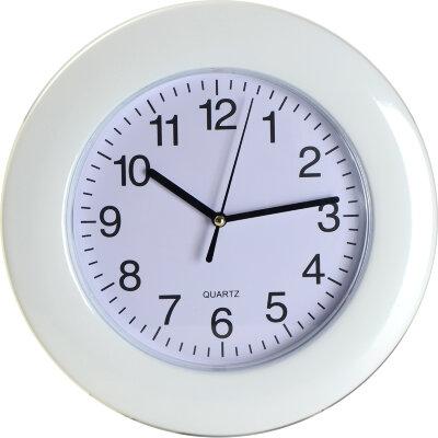 Часы круглые настенные 26 см MAXTRONIC MAX-8529 белый ободок
