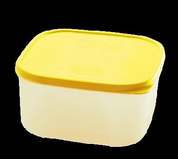 Контейнер для продуктов 0,7 л квадратный пластиковый Био ПЦ2356