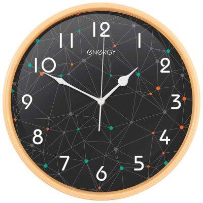 Часы круглые настенные 32 см ENERGY ЕС-107 кварцевые бесшумные