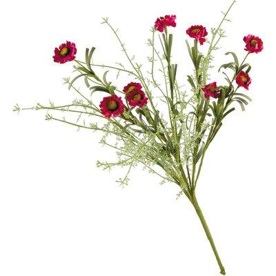 Искусственные полевые цветы для декора Ноготки красные 53 см