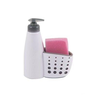 Держатель для губки с дозатором Dispenser Рыжий кот для мытья посуды 13x7x19 см