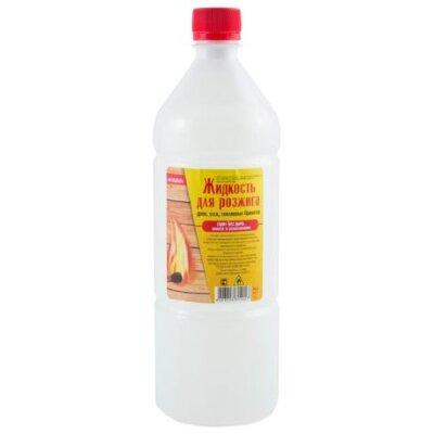 Жидкость для розжига костра и углей 1 л Kristalloff с дозатором для налива