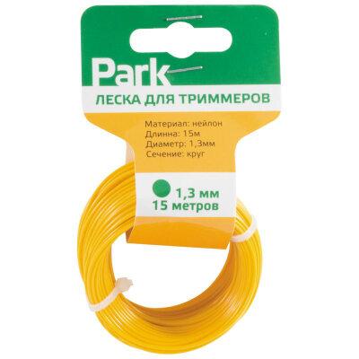 Леска для триммера круглая 1.3 мм 15 м PARK, желтая