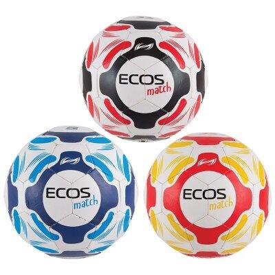 Мяч футбольный ECOS Match №5 32 панели вес 340 г цвет в ассортименте