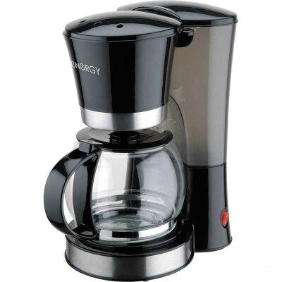 Кофеварка капельная с подогревом ENERGY EN-604 черная 800 Вт 1.2 л