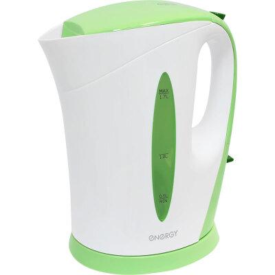 Чайник электрический ENERGY E-215 Wgreen 1.7 л с фильтром, бело-зеленый