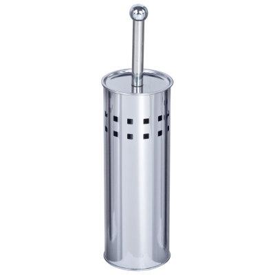 Щетка для унитаза напольная с подставкой SSTE-002 из нержавейки высота 38 см