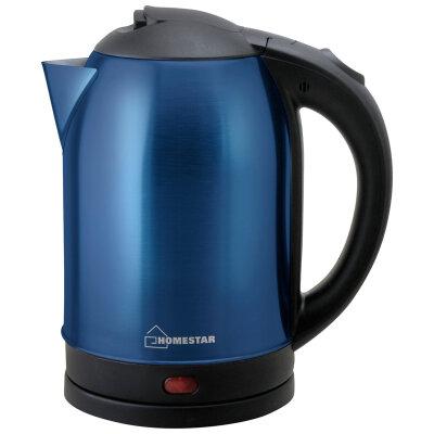 Чайник электрический из нержавеющей стали 1.8 л Homestar HS-1009 синий