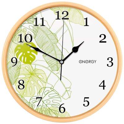 Часы круглые настенные 32 см ENERGY ЕС-108 с цветами