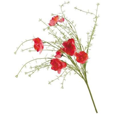 Искусственные полевые цветы для интерьера Маки 57 см
