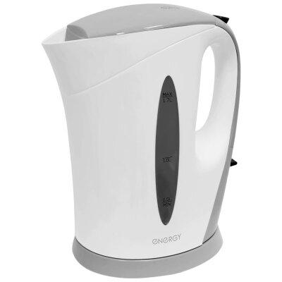 ENERGY E-215 Чайник электрический пластиковый 1.7 л съемный фильтр бело-серый