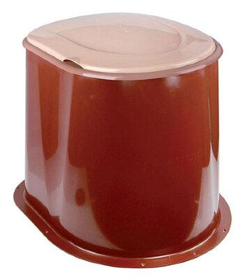 Унитаз дачный пластиковый без дна на выгребную яму М1295 Альтернатива, коричневый - бежевый