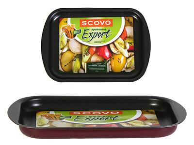 Противень для запекания в духовке малый SCOVO СЭ-051 28.5х19.5х2 см с антипригарным покрытием