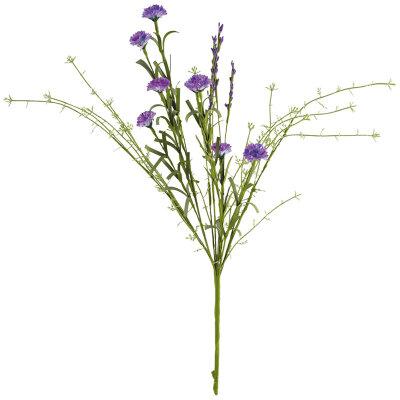 Искусственные полевые цветы для декора Васильки 51 см цвет васильковый