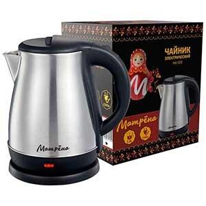 МАТРЁНА MA-003 Чайник электрический стальной 1.8 л 1500 Вт